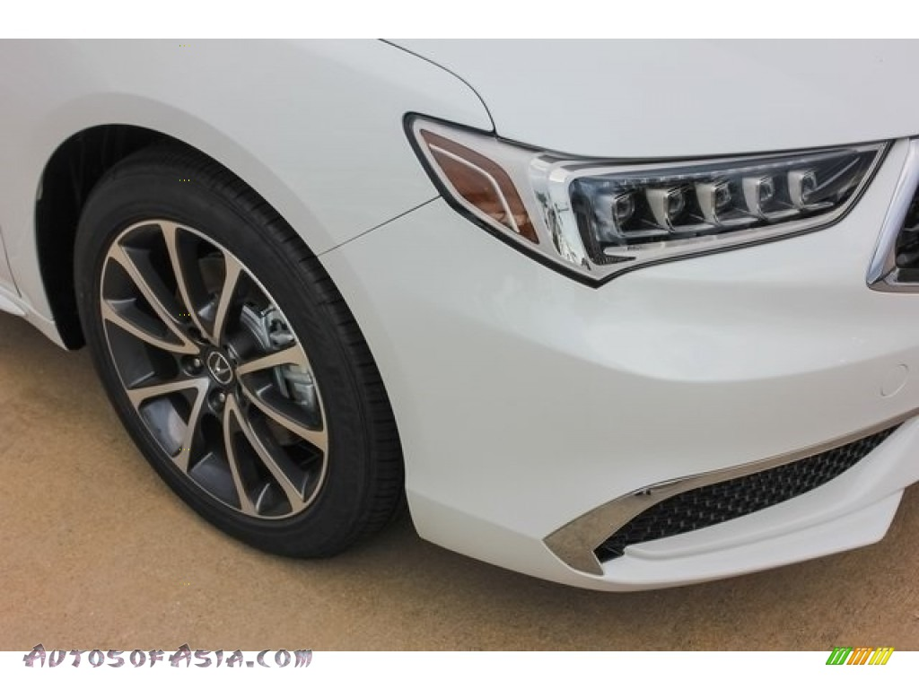 2018 TLX V6 Technology Sedan - Bellanova White Pearl / Ebony photo #10