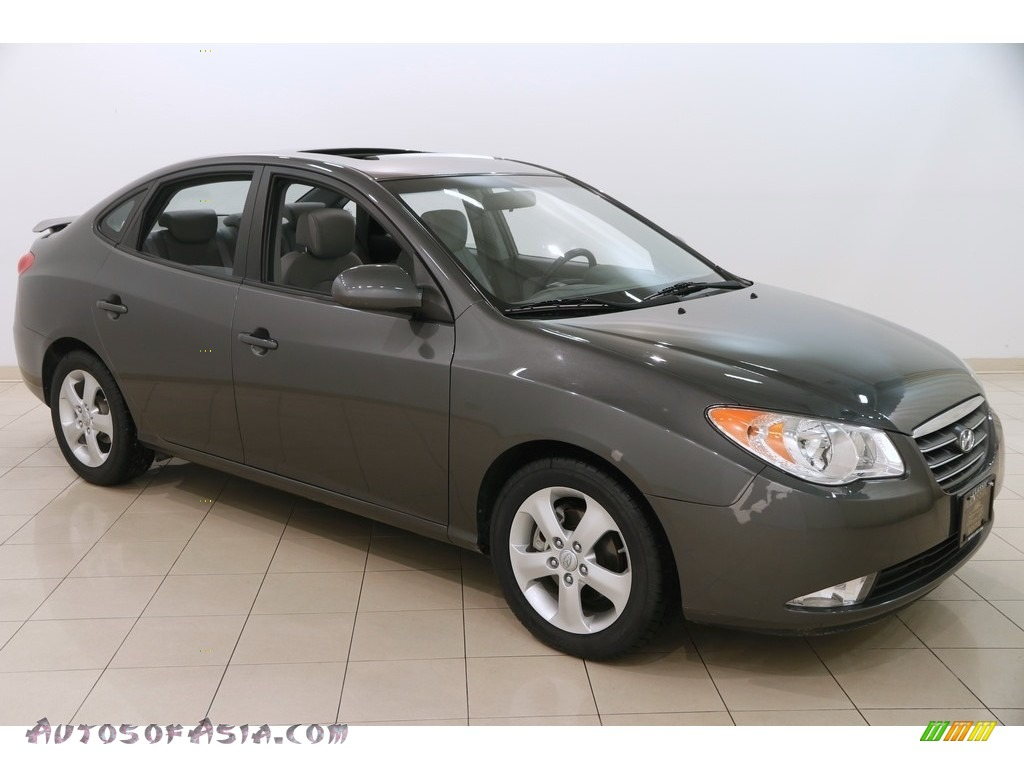 2008 Elantra SE Sedan - Carbon Gray Metallic / Gray photo #1