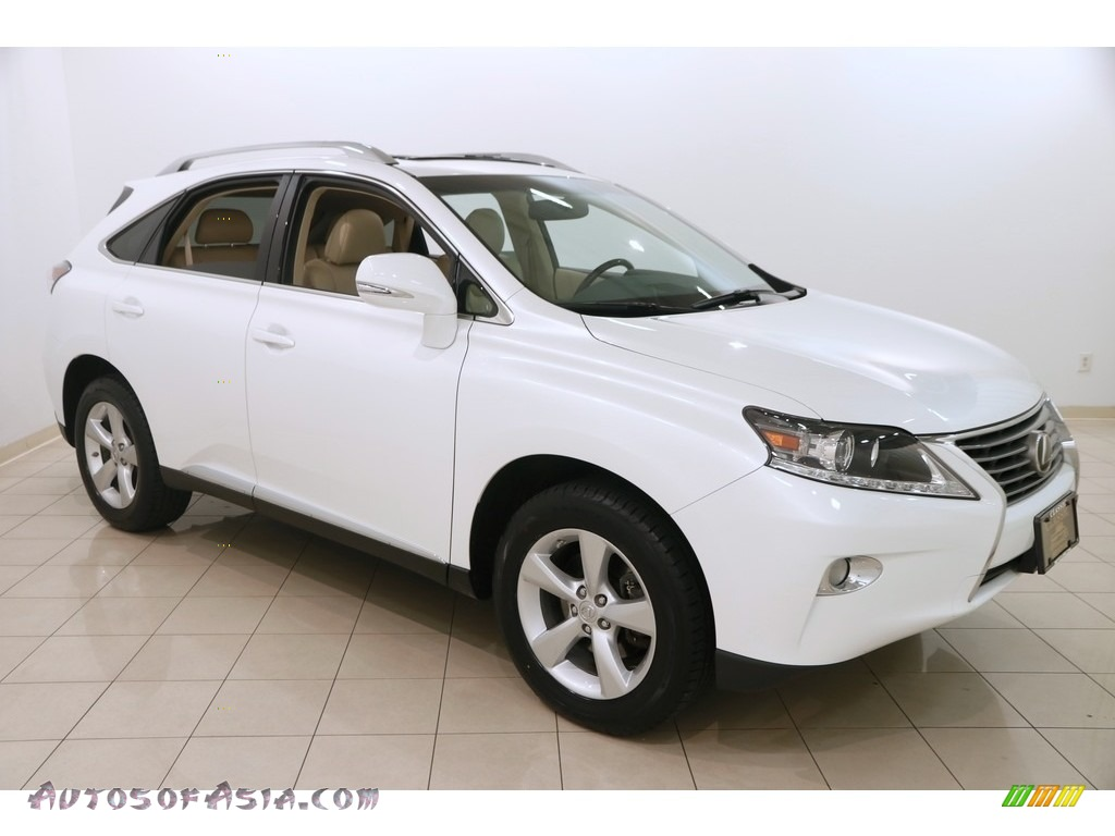 Starfire White Pearl / Parchment/Espresso Birds Eye Maple Lexus RX 350 AWD