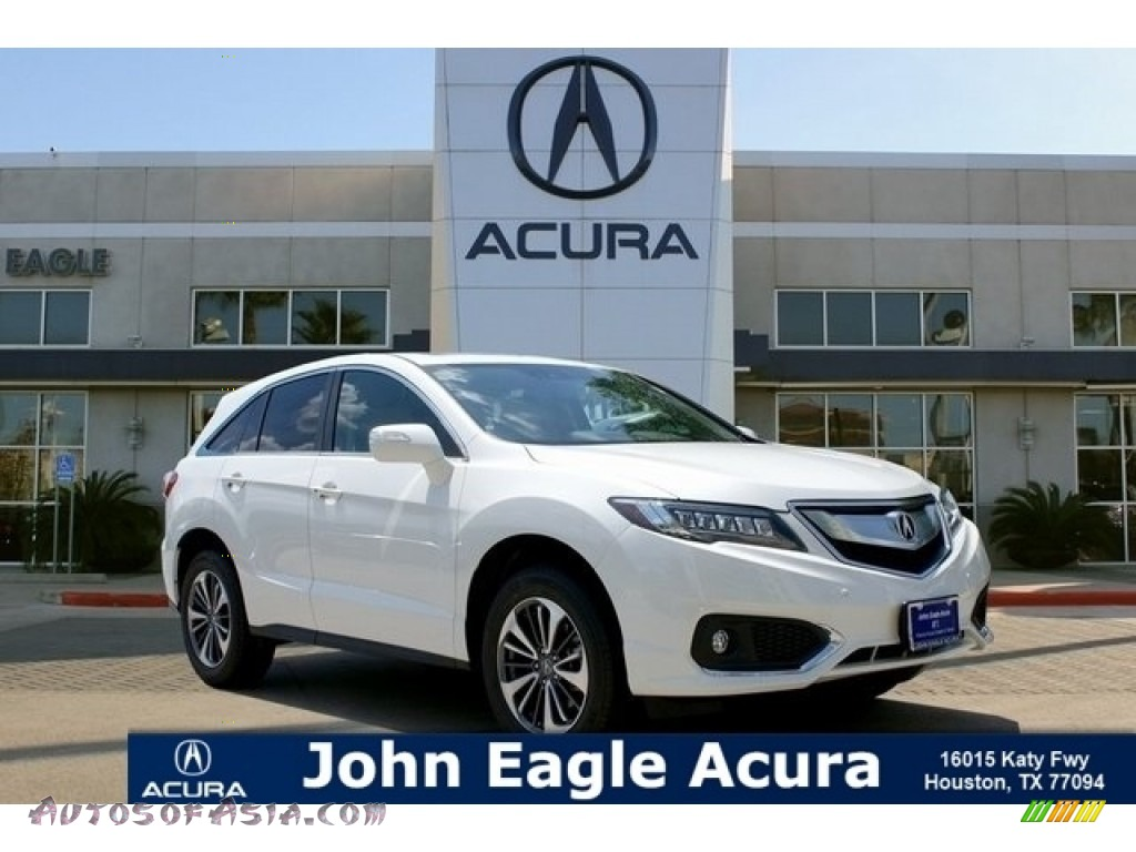 White Diamond Pearl / Parchment Acura RDX FWD Advance