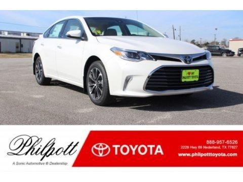 Blizzard White Pearl 2018 Toyota Avalon XLE