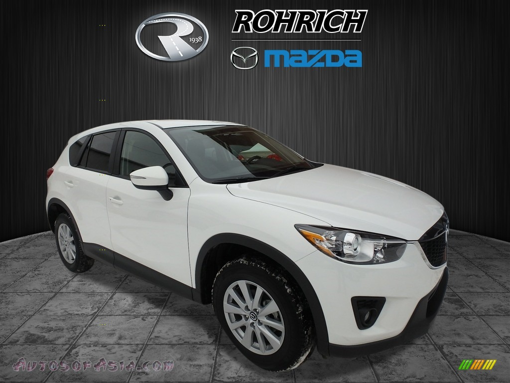 2015 CX-5 Touring - Crystal White Pearl Mica / Black photo #1