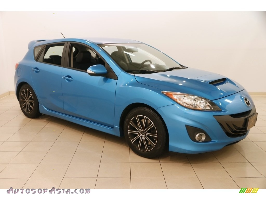 2010 MAZDA3 MAZDASPEED3 Sport 5 Door - Celestial Blue Mica / Black/Red photo #1