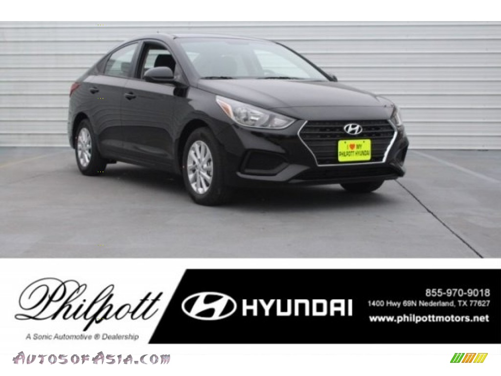 2018 Accent SEL - Absolute Black / Beige photo #1