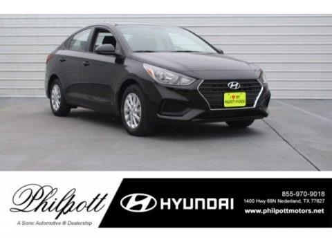 Absolute Black 2018 Hyundai Accent SEL