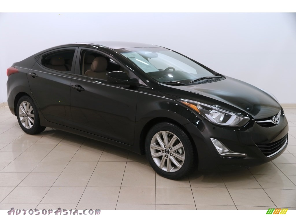 2014 Elantra SE Sedan - Black / Beige photo #1