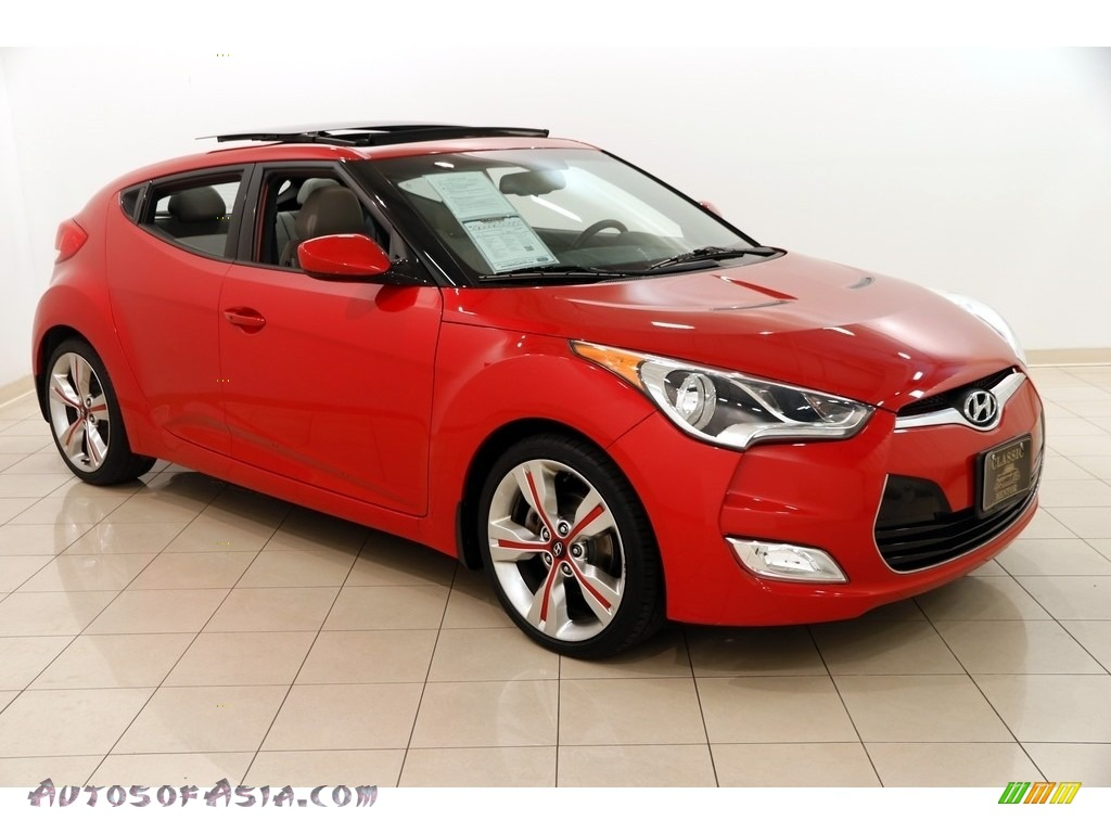 2012 Veloster  - Boston Red / Gray photo #1
