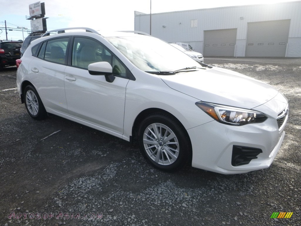 2017 Impreza 2.0i Premium 5-Door - Crystal White Pearl / Ivory photo #1
