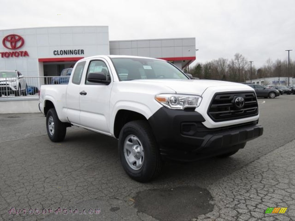 2018 Tacoma SR Access Cab - Super White / Cement Gray photo #1