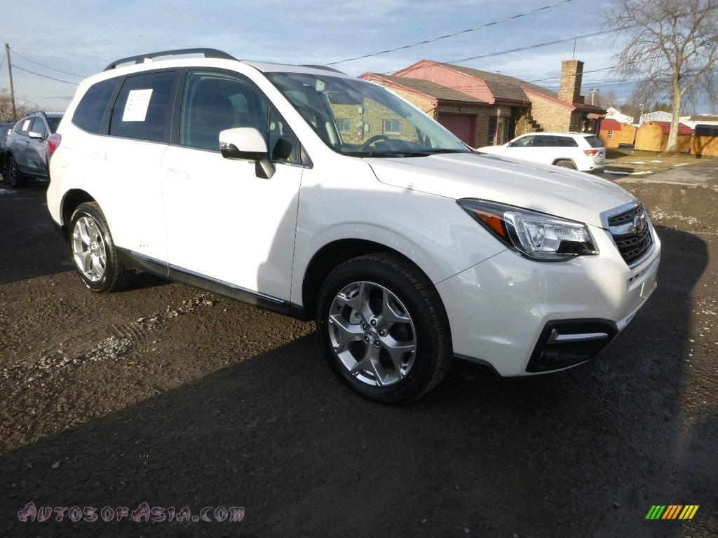 2018 Forester 2.5i Touring - Crystal White Pearl / Black photo #1