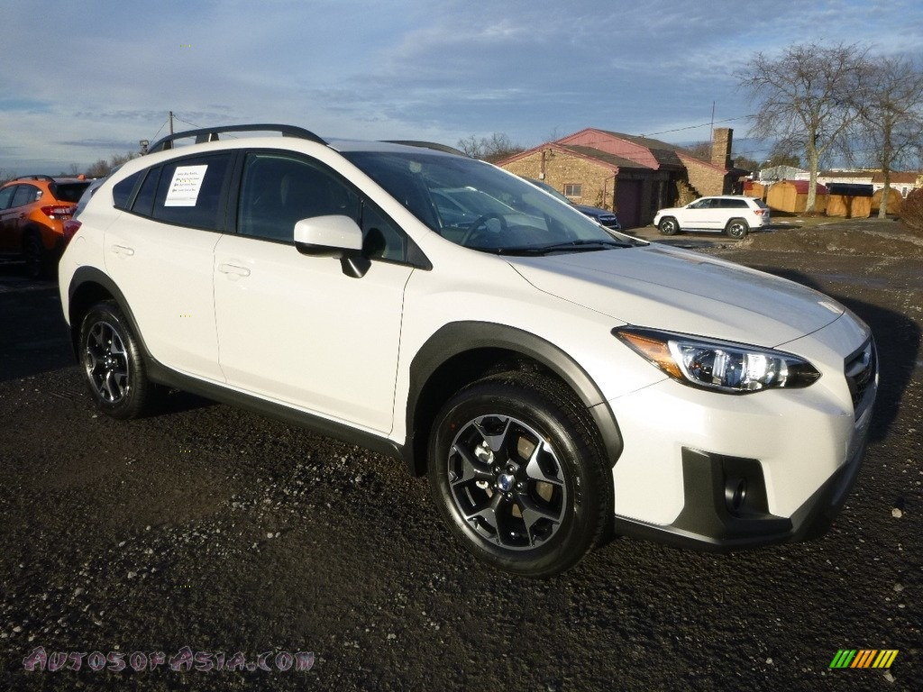 2018 Crosstrek 2.0i Premium - Crystal White Pearl / Black photo #1