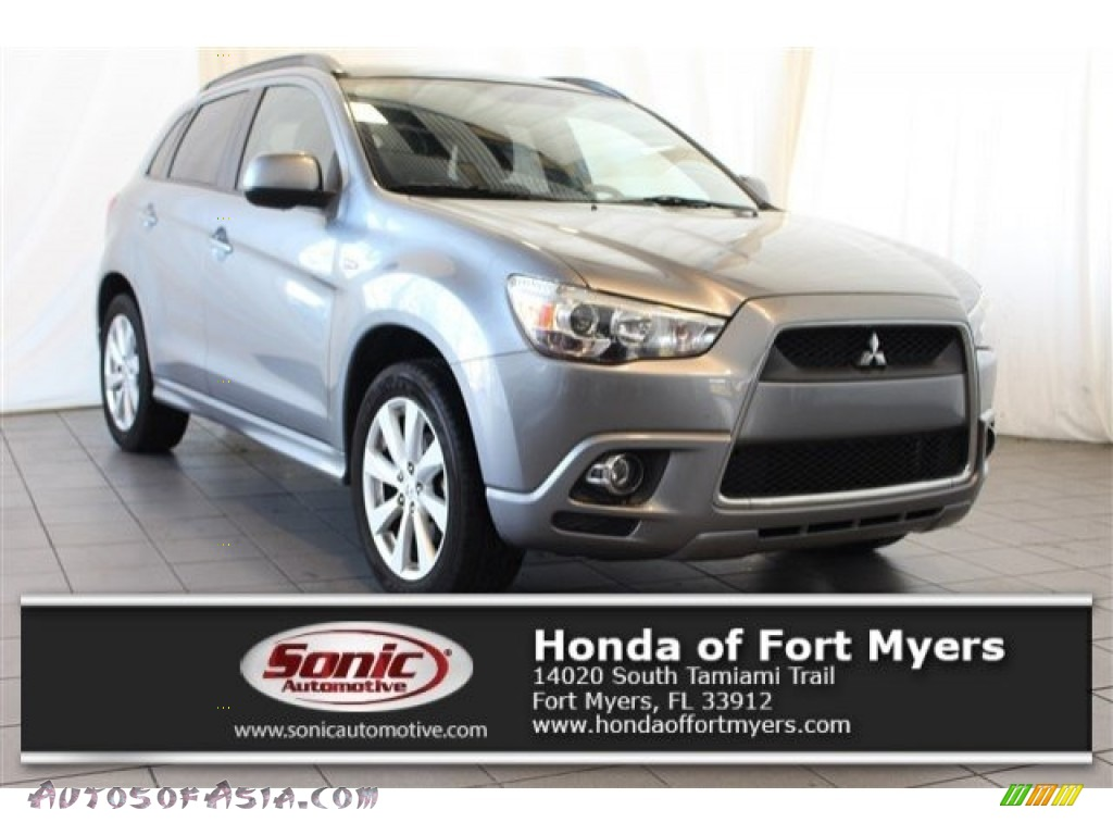 2012 Outlander Sport SE - Mercury Gray Pearl / Black photo #1