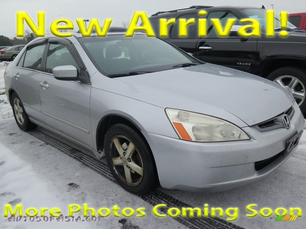 2003 Accord EX Sedan - Satin Silver Metallic / Gray photo #1
