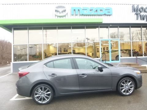 Machine Gray Metallic 2018 Mazda MAZDA3 Grand Touring 4 Door