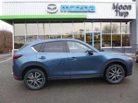 Eternal Blue Metallic 2018 Mazda CX-5 Grand Touring AWD