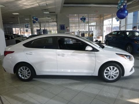 Frost White Pearl 2018 Hyundai Accent SEL