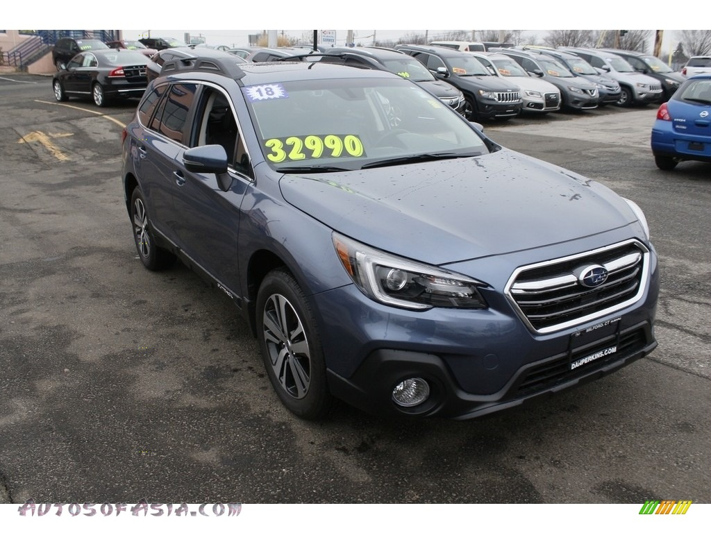 2018 Outback 2.5i Limited - Twilight Blue Metallic / Black photo #1