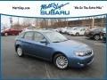 Subaru Impreza 2.5i Premium Wagon Newport Blue Pearl photo #1