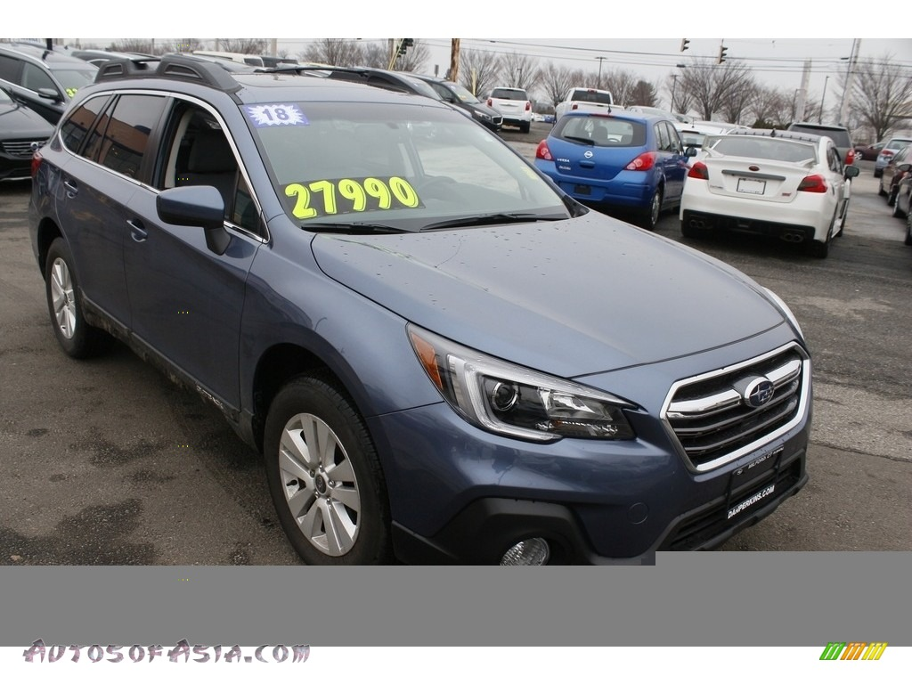 2018 Outback 2.5i Premium - Twilight Blue Metallic / Titanium Gray photo #1
