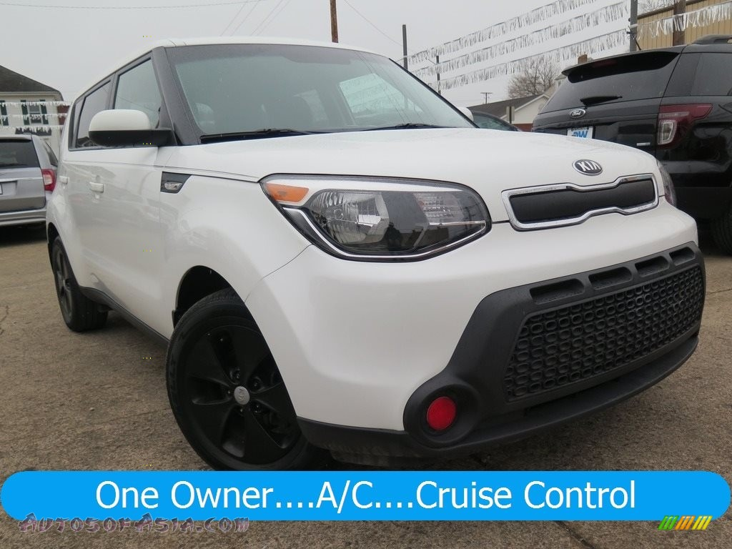 Clear White / Black Diamond Woven Cloth Kia Soul 1.6