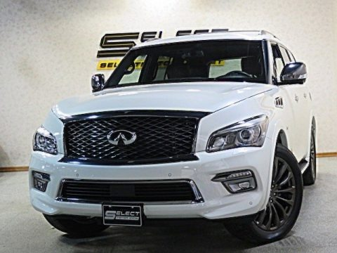 Majestic White 2017 Infiniti QX80 Limited AWD