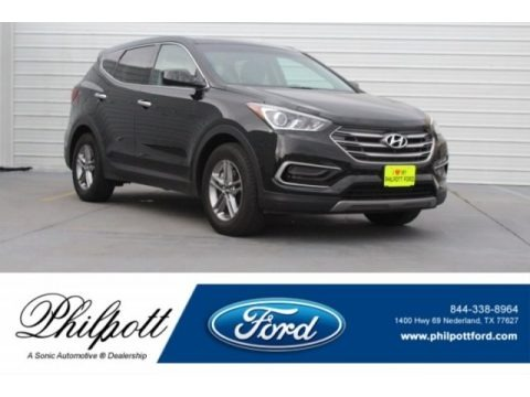 Twilight Black 2017 Hyundai Santa Fe Sport FWD