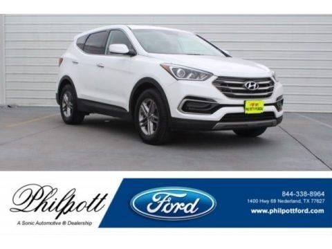 Pearl White 2017 Hyundai Santa Fe Sport FWD