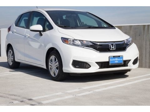White Orchid Pearl 2018 Honda Fit LX