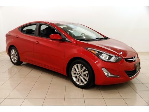 Geranium Red 2015 Hyundai Elantra SE Sedan