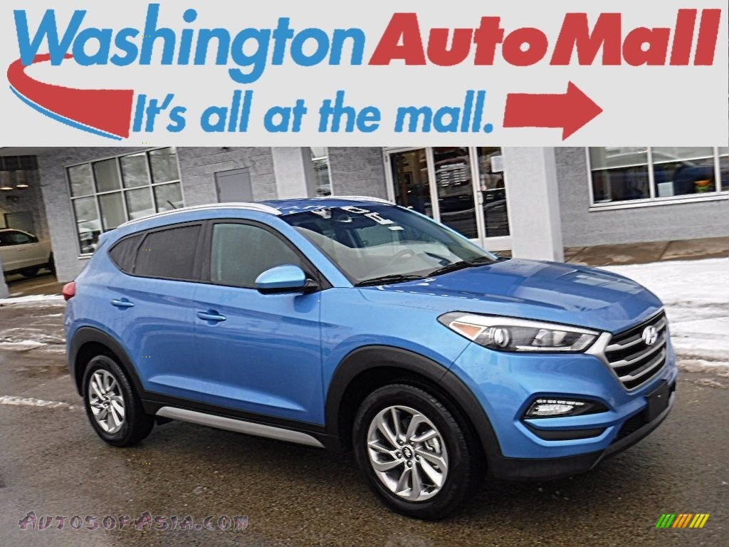 2017 Tucson SE AWD - Caribbean Blue / Black photo #1