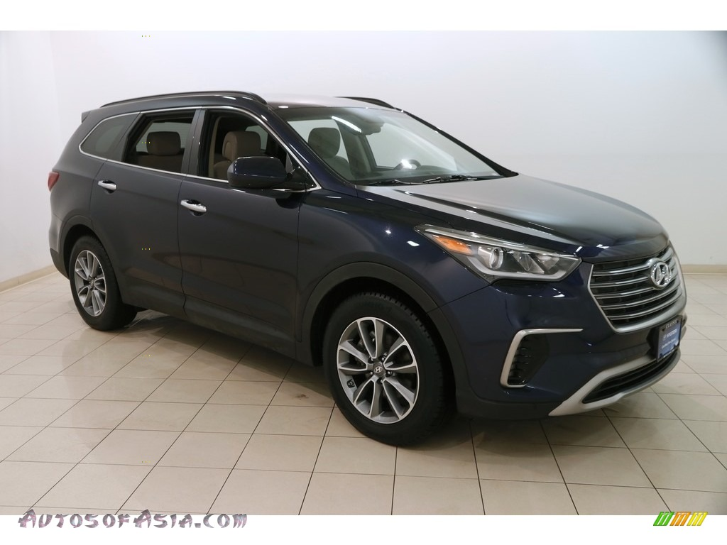 2017 Santa Fe SE AWD - Storm Blue / Gray photo #1