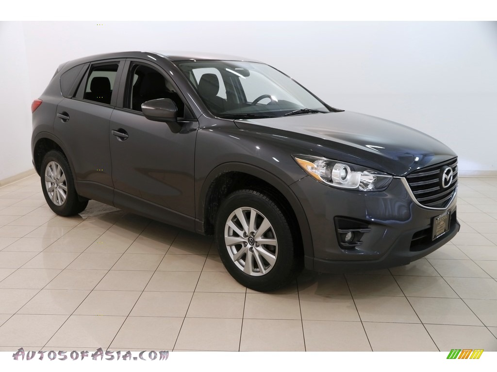 Meteor Gray Mica / Black Mazda CX-5 Touring AWD