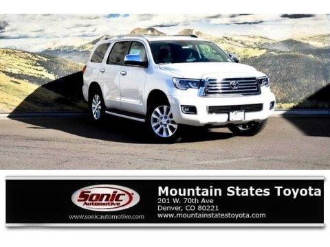 Blizzard White Pearl 2018 Toyota Sequoia Platinum 4x4