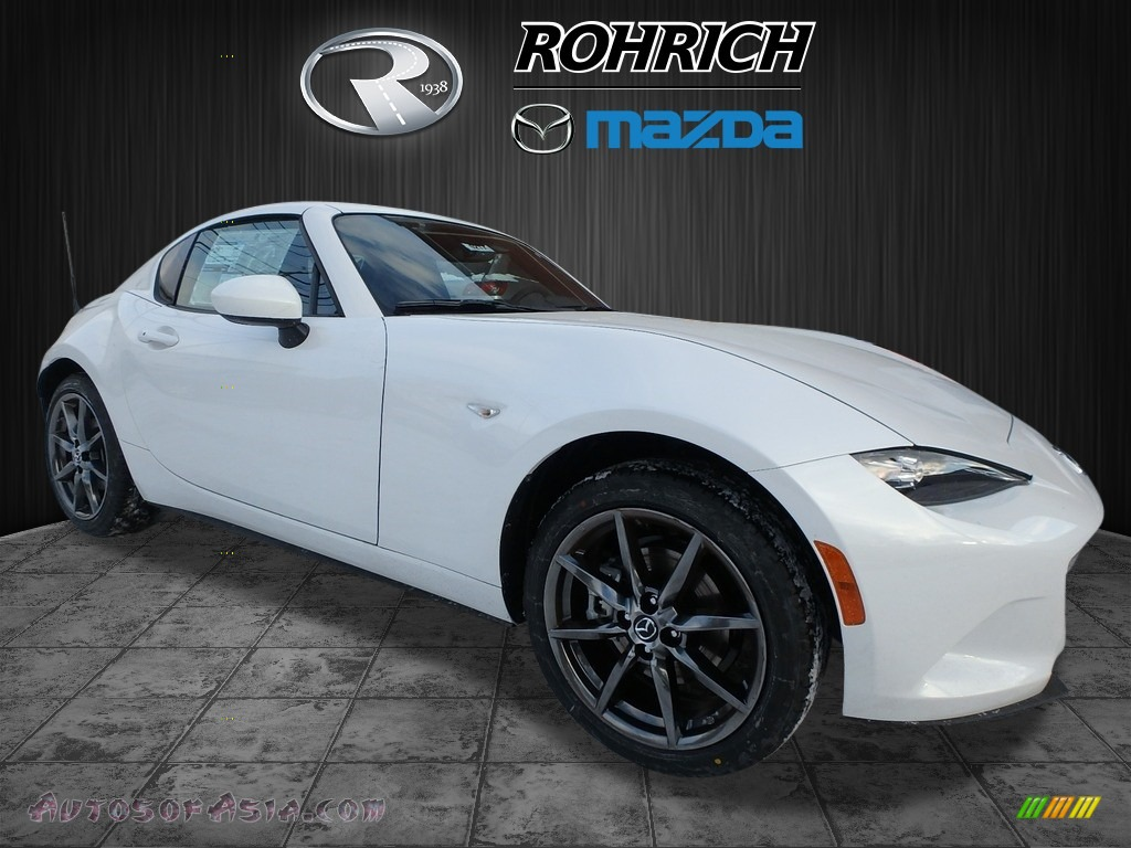 2018 MX-5 Miata RF Grand Touring - Arctic White / Brown photo #1