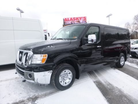 Super Black 2018 Nissan NV SL Passenger