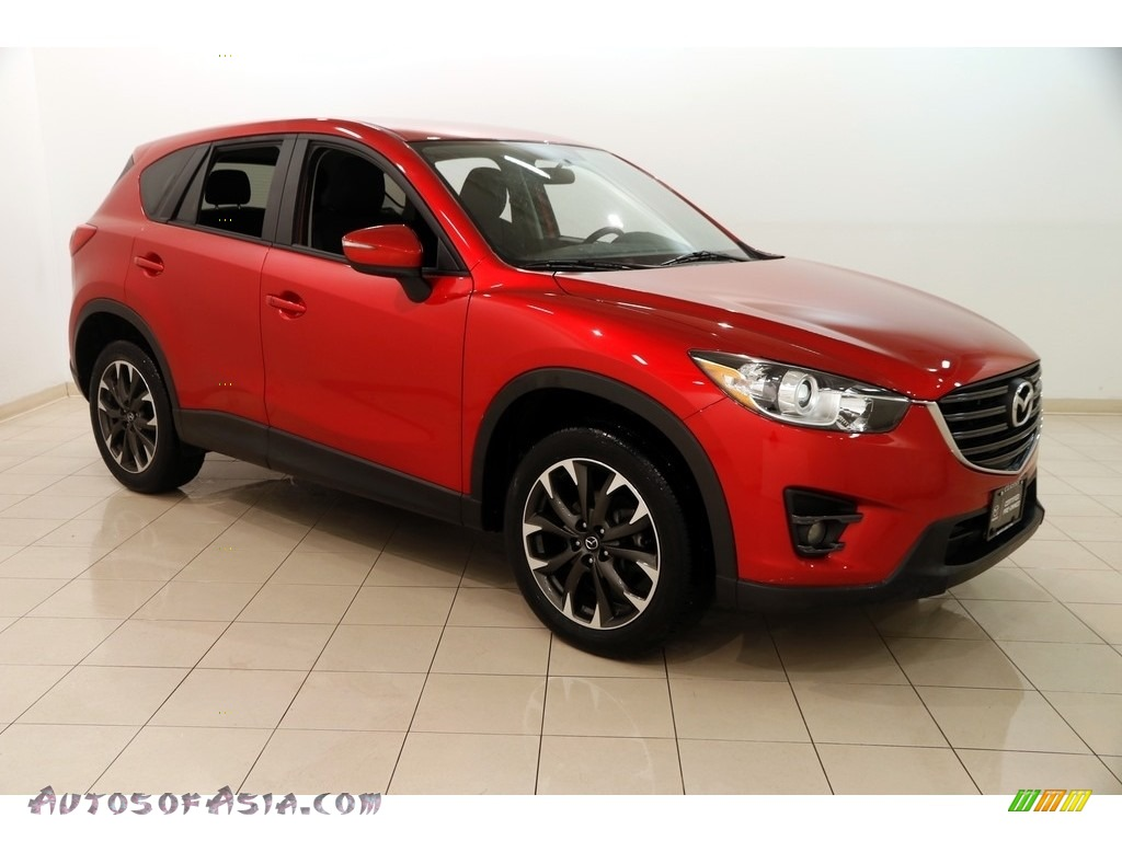 2016 CX-5 Touring AWD - Soul Red Metallic / Black photo #1