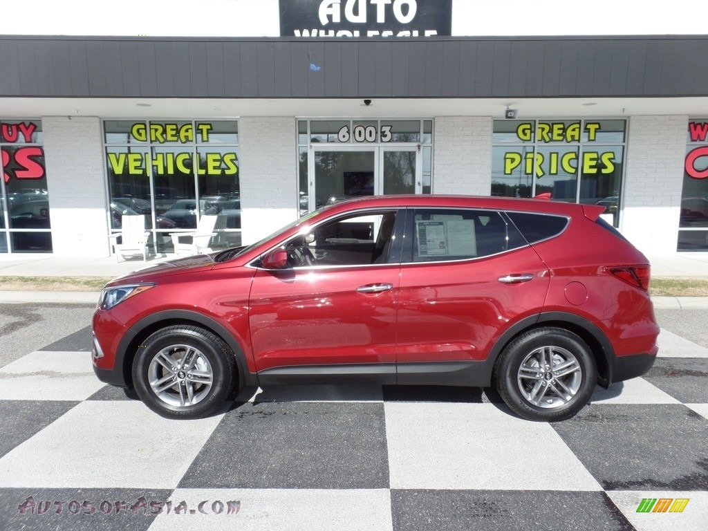 2017 Santa Fe Sport FWD - Serrano Red / Beige photo #1