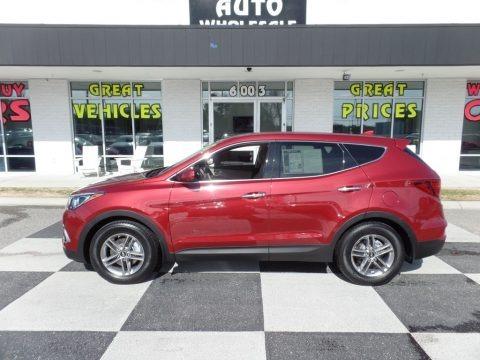 Serrano Red 2017 Hyundai Santa Fe Sport FWD