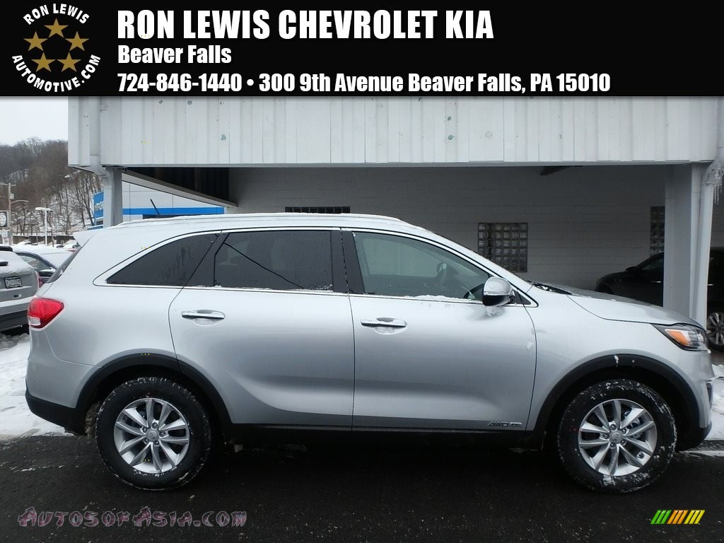 2018 Sorento LX V6 AWD - Sparkling Silver / Black photo #1