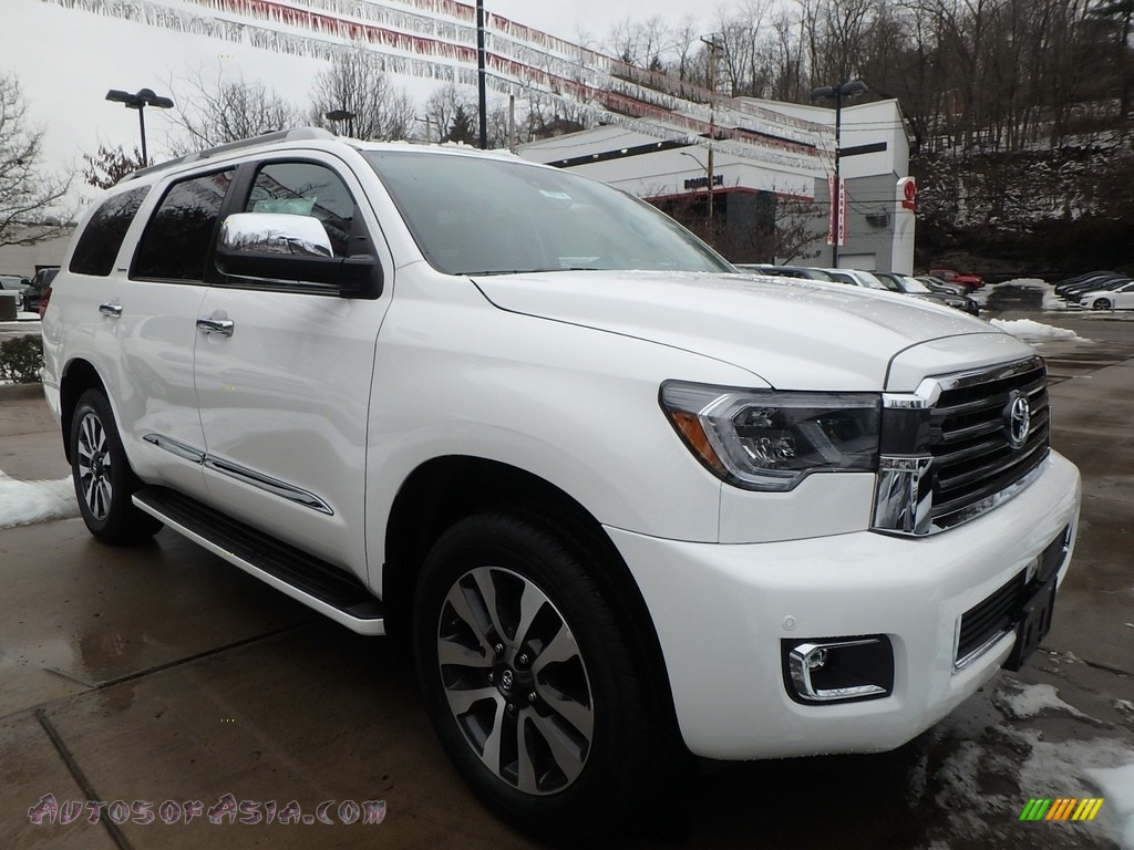 2018 Sequoia Limited 4x4 - Blizzard White Pearl / Graphite photo #1