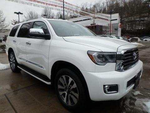 Blizzard White Pearl 2018 Toyota Sequoia Limited 4x4