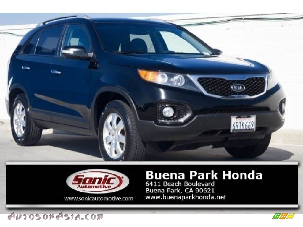 2011 Sorento LX - Ebony Black / Black photo #1