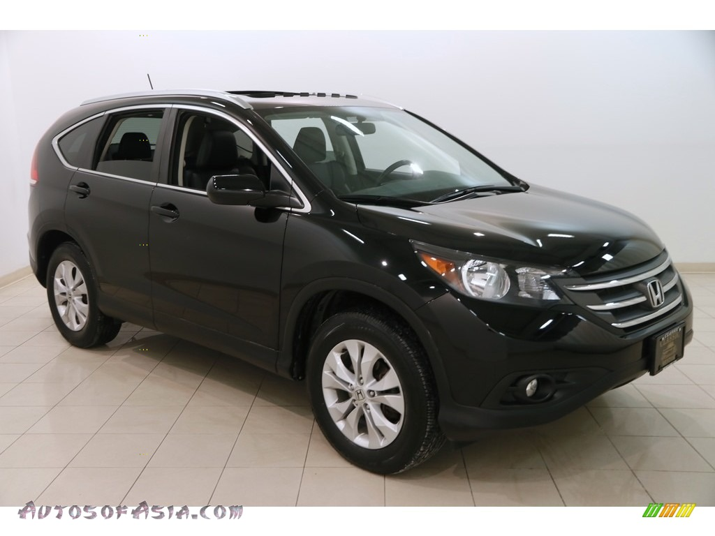 2014 CR-V EX-L AWD - Crystal Black Pearl / Black photo #1