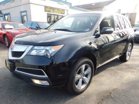 Crystal Black Pearl 2012 Acura MDX SH-AWD Technology