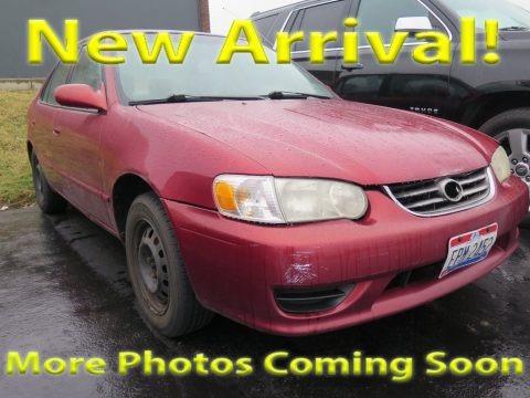 Impulse Red 2001 Toyota Corolla LE