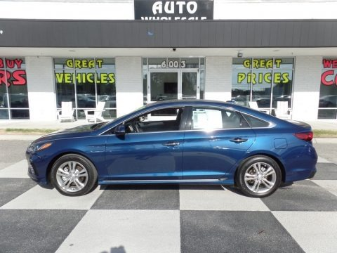 Electric Blue 2018 Hyundai Sonata Sport