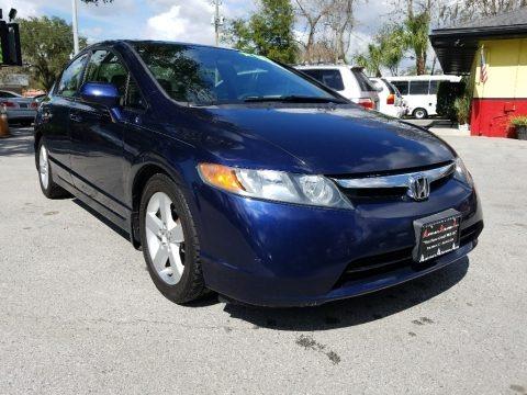 Atomic Blue Metallic 2007 Honda Civic EX Sedan