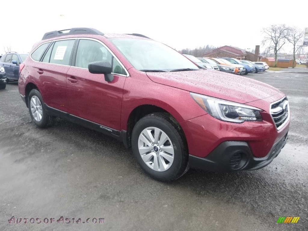 2018 Outback 2.5i - Crimson Red Pearl / Ivory photo #1