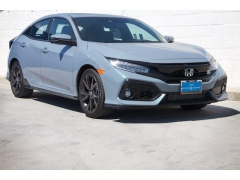 Sonic Gray Metallic 2018 Honda Civic Sport Touring Hatchback