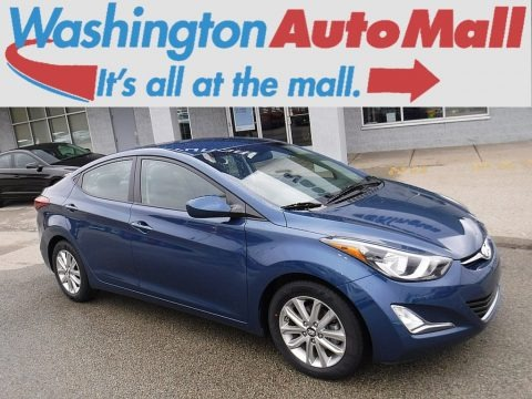 Windy Sea Blue 2015 Hyundai Elantra SE Sedan